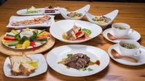 *お夕食一例/南房総の自然が育む旬の山海の幸を盛り込んだイタリアン料理に舌鼓