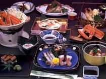 日本海の新鮮な魚を使った料理