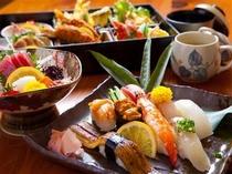 美味しいお寿司をお召し上がりください