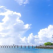 「海上遊歩道」まるで海の上をお散歩しているかのよう。