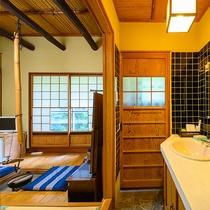 ・【やまびこ】囲炉裏のある和室/洗面所
