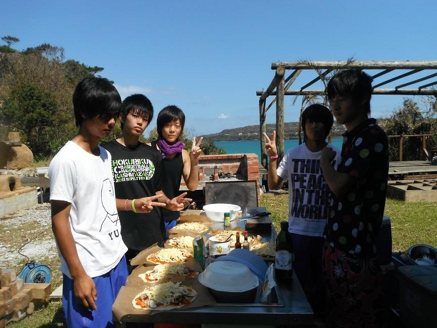石窯ピザ作り体験♪2