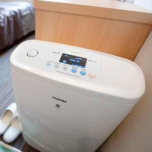 【加湿機能付空気清浄機】きれいな空気のお部屋でお休み下さい。
