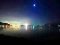 河口湖の夜景