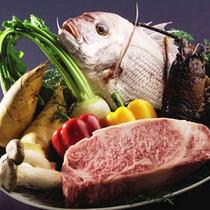 地元の旬の食材を存分にお楽しみいただけます。