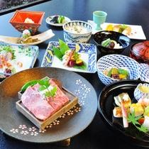 <和牛会席一例>極上の和牛サーロイン☆最高の肉質、柔らかさにこだわり!