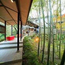 竹林の渡り廊下