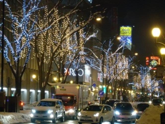 繁華街も賑わう12月のすすきの