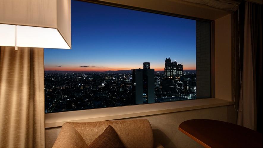 西側のお部屋からの夜景イメージ
