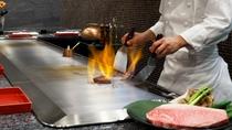 ■鉄板焼 和(NAGOMI)■目や耳・舌で楽しむ鉄板焼 目の前で踊る食材をご賞味ください。 イメージ
