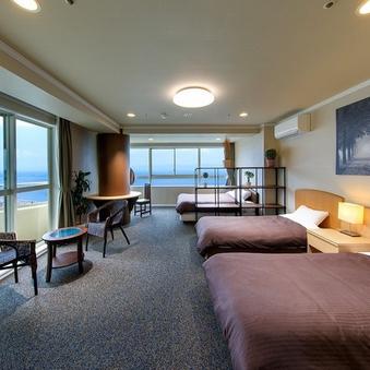 【本館禁煙高層階11〜12階】7ベッド洋室指定|5〜7名