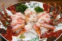 蟹刺し皿盛
