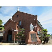遠藤周作の小説『沈黙』の舞台ともなった黒崎の地に建つ教会