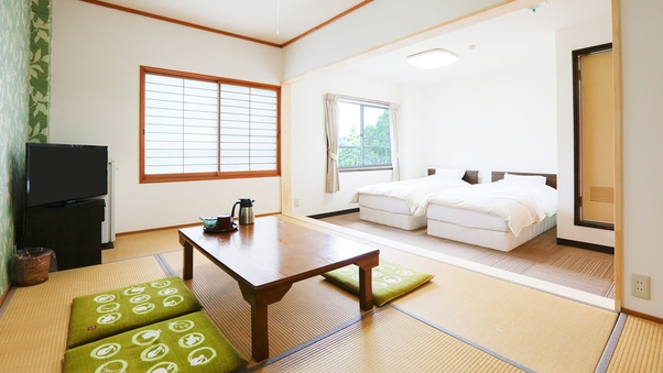 【禁煙】202号室 和洋室ツイン 15平米+7.5畳