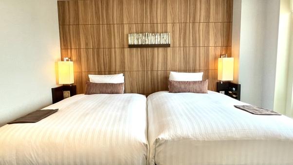 【桜島側】禁煙プレミアムツインルーム/ベッド幅130cm×2