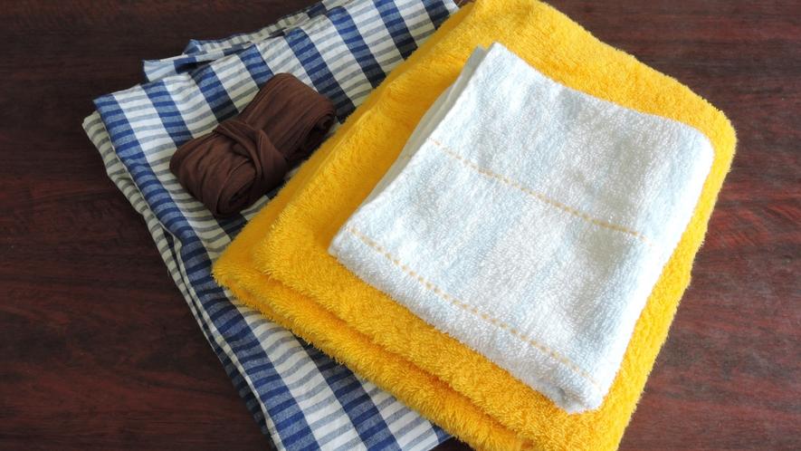 *【アメニティー】浴衣・タオル・バスタオルのご用意ございます。