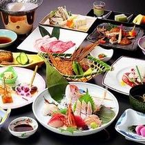【日本海の幸と庄内の山の味覚を織り交ぜた久遠会席】食の宝庫・庄内ならではの深い味わいとご堪能下さい