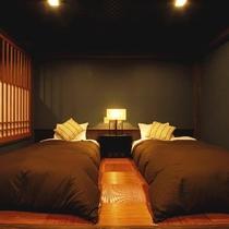 【和のたたずまいのモダンベッドルーム最上階 準特別室 久遠倶楽部A】