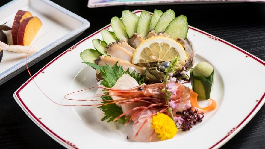 【日本海の幸新鮮お造り】庄内浜で取れた新鮮な海の幸お造り5点盛り
