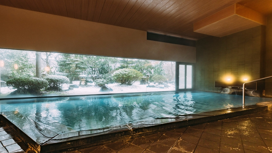露天風呂~山水~冬は雪見風呂