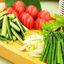 【もっけです!KUON ファミリーバイキング】季節の野菜