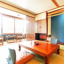 【5階客室〜湯めぐり倶楽部〜和室タイプ・38㎡】琉球畳を使った和のデザイン