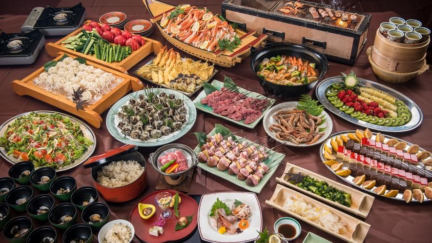 【もっけです!KUON ファミリーバイキング】〜約20種の食べ放題メニューと和膳セット