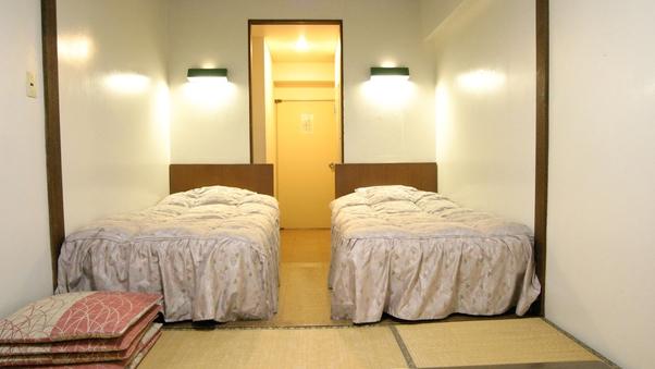 【禁煙】和洋室または和室(ベッド)<トイレ洗面付/TV無>