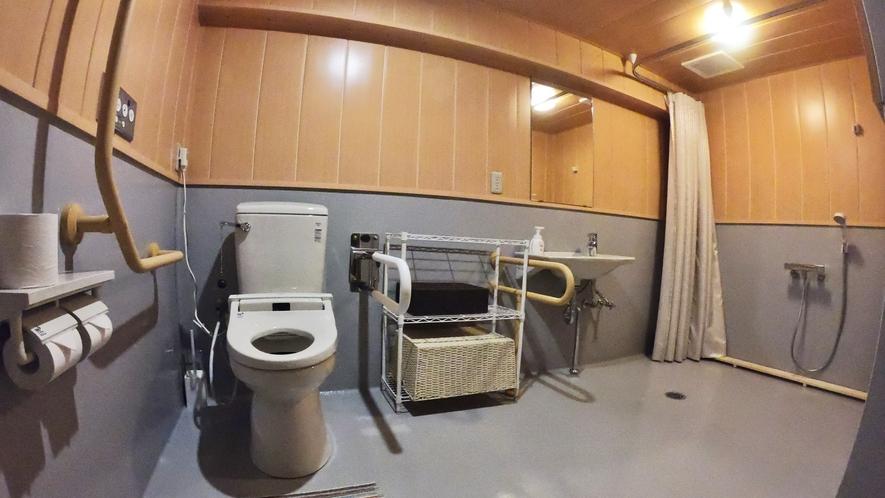 *【お部屋一例/バリアフリー洋室】車いすの方にも優しい、バリアフリートイレです。