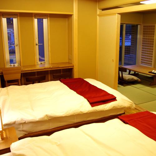 露天温泉付 スイート和洋室 寝室 333