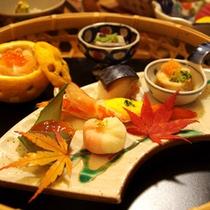 手作り前菜七品(食事の一例)