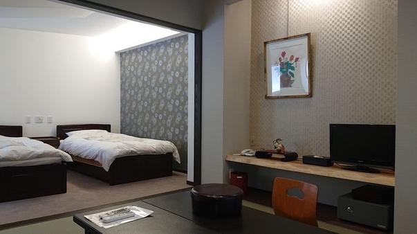 和洋室【2ベッド+6畳和室/トイレ付/Wi-Fi完備】