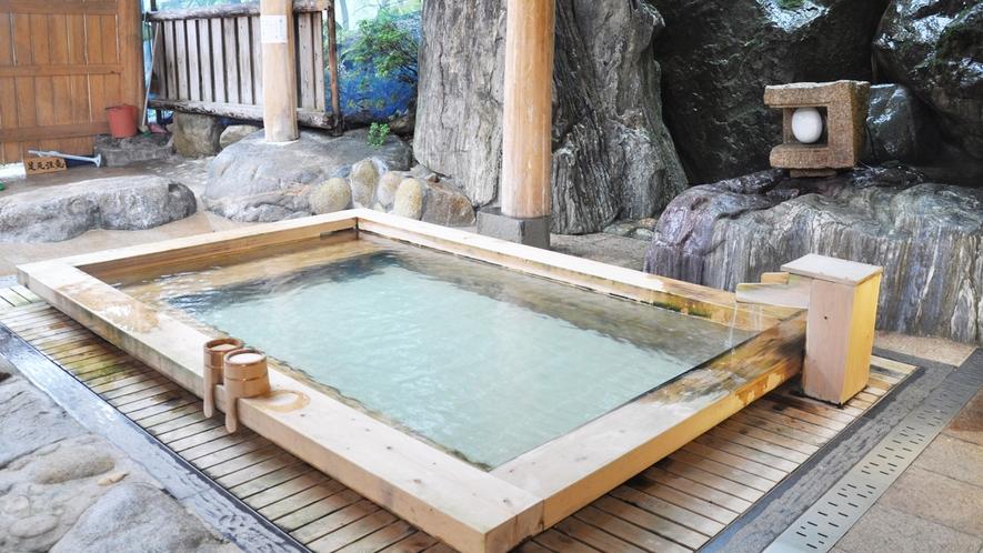 *■露天風呂■ぬるっとした質感の美肌の湯で、お風呂上がりはお肌つるつるになると評判♪