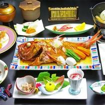 *金目鯛煮付プランの夕食一例