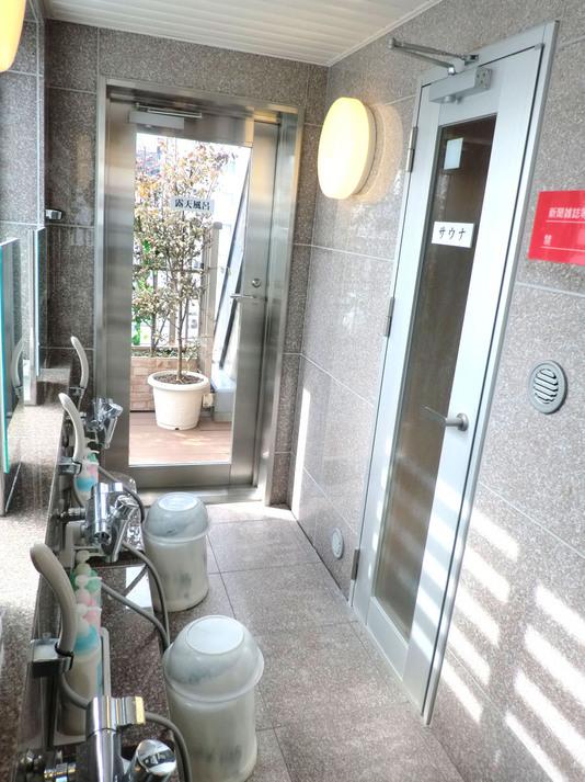 男性浴場 洗い場