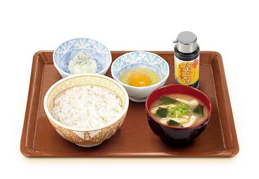 たまごかけごはん朝食(すき家)