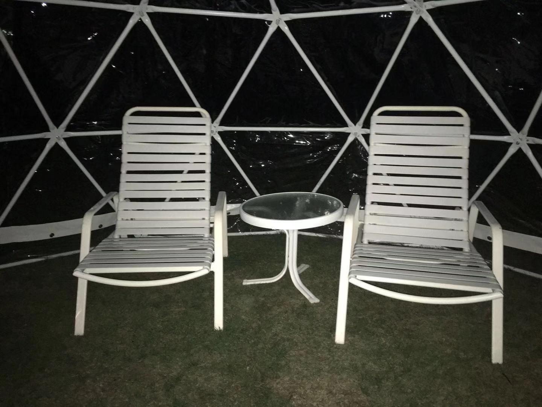 星を見るテント