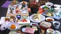 ■贅-zei-/贅沢なメイン料理とともに優しい里山料理でおもてなし。