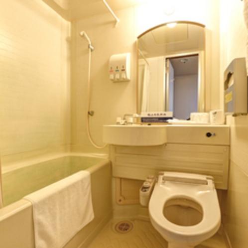 *スタンダードツイン(客室一例)/ユニットバスを完備。
