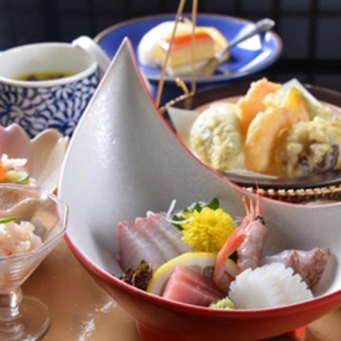 ◆お夕食一例/穏やかな気候と風土に恵まれた芸北の食材を活かした料理で至福のひと時をお過ごし下さい。
