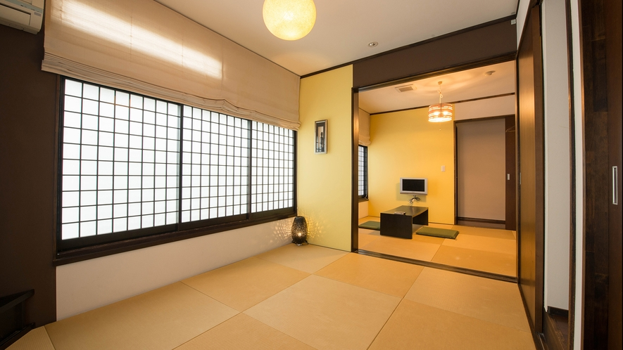 *コネクトルーム 広々5.5+6畳 和モダン和室/眺望はございませんがファミリーにおすすめです!