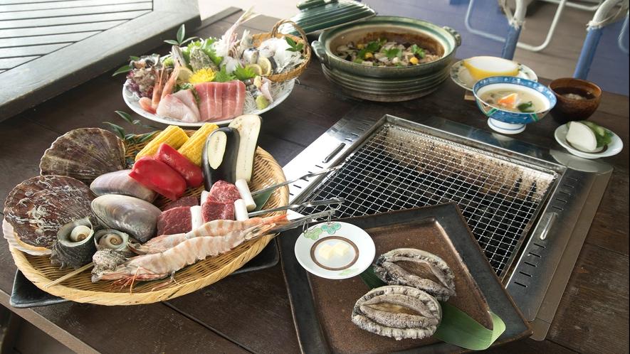 *海鮮グルメプラン・海鮮BBQコース/お刺身やご飯・デザートも付きます
