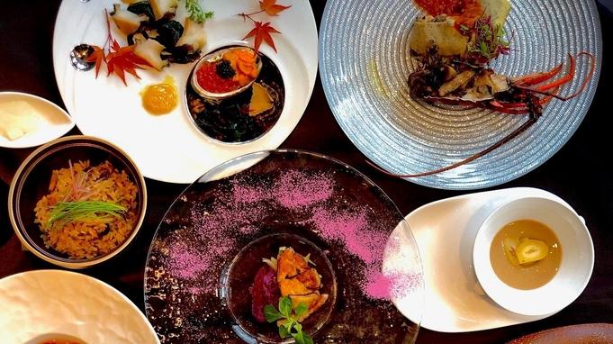 【記念日におすすめ】鉄板焼きディナー「凛庭コース」計8品☆レイトチェックアウト12時《2食付き》