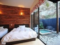 露天風呂と寝室