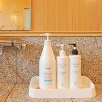 *【浴室アメニティ】女性のためにシャンプー、コンディショナー、ボディシャンプーは良質の物をセレクト。