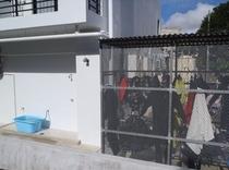ダイビング器材の洗い場、干し場