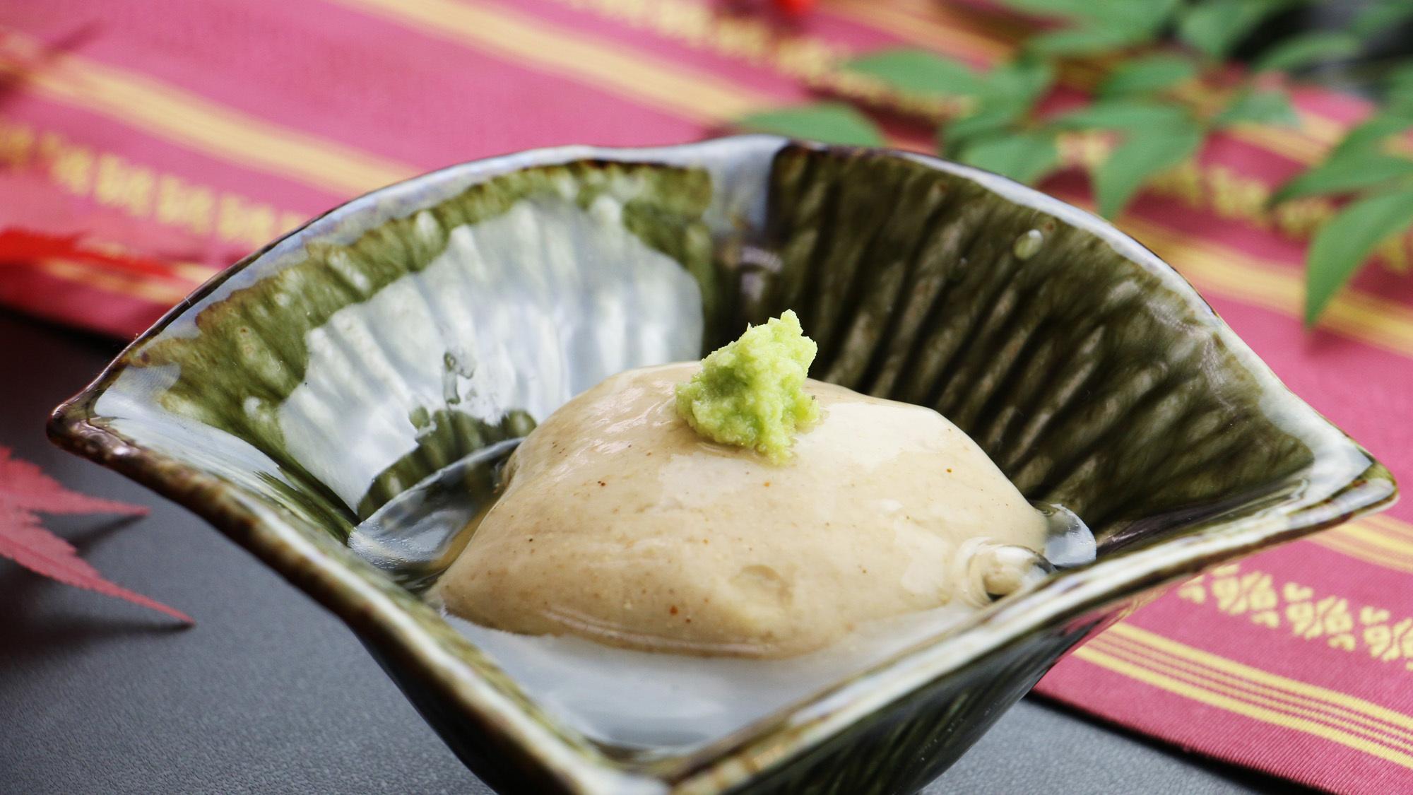 ひやま御膳イメージ 日光の名産品でもある「日光湯波」 大豆の濃厚な風味が感じられます。