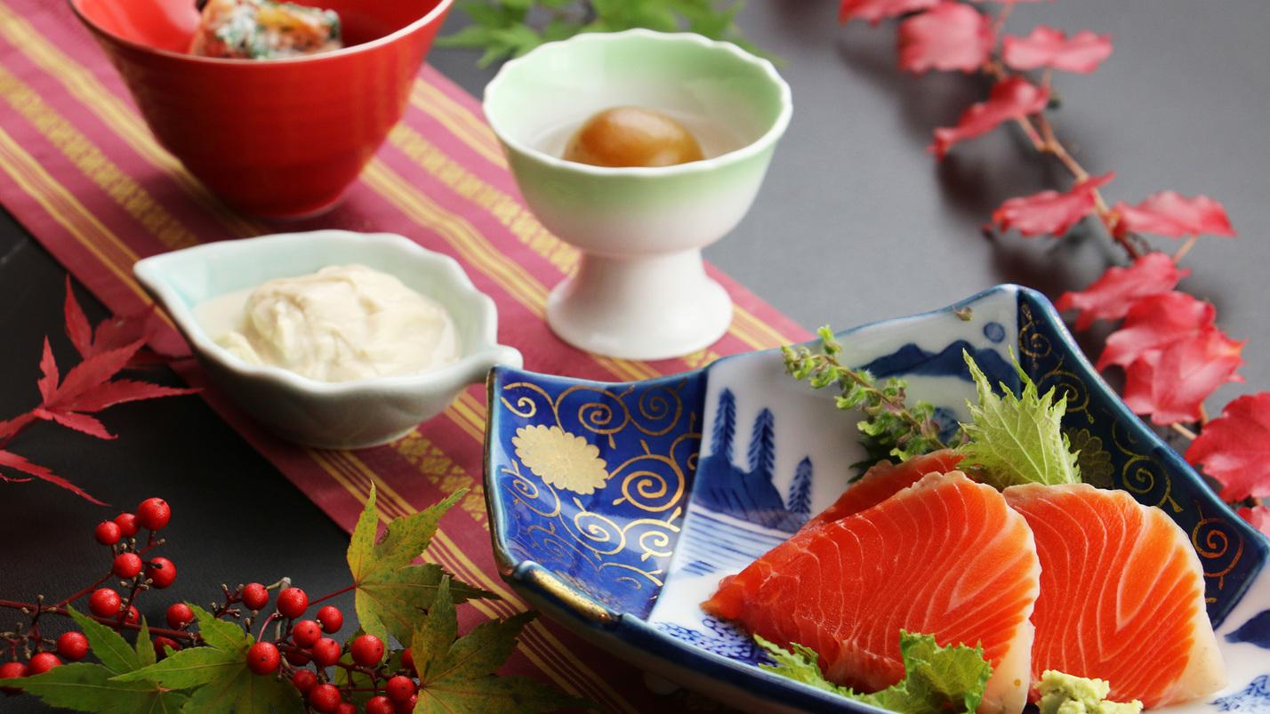 ひやま御膳イメージ 日光湯波や梅の翡翠煮などこだわりの逸品が並ぶひやまのごちそう