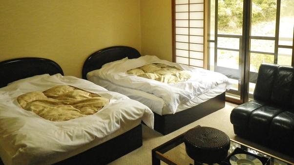 ■ベッドでぐっすり就寝<洋室ツイン>トイレ付