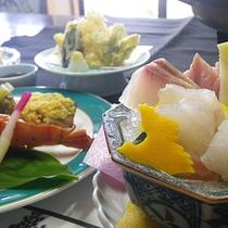*夕食一例/新鮮な四季の味覚に舌鼓